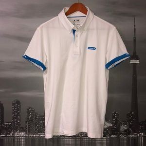 ADIDAS Cuffed Short Sleeve Button Up Polo Golf Top